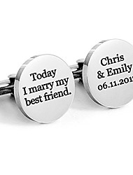 cheap -personalized 925 sterling silver wedding cufflinks for men custom made with any name,best gift for groomsman (silver)