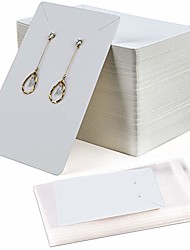 cheap -120 pieces earrings and necklace display cards with 120 self-sealing bags earring card holder, earring display cards for ear studs, earrings, necklaces, white color, 3.5x2.4inch