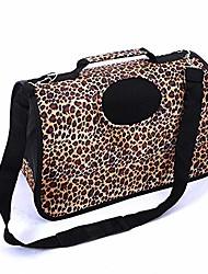 cheap -foldable pet bag one-shoulder messenger backpack breathable cat bag leopard print travel carrying bag dogs outing bag