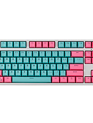 cheap -87 Keys PBT Miami Double Color Backlight Keycap Universal Column For Ikbc Cherry MX Annie Mechanical Keyboards