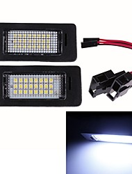 cheap -2Pcs 12V Car LED License Number Plate Light Lamp For Audi TT TTS A1  A5 A6 A7 Q5 RS5 TTRS Auto Lighting Luces