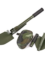 cheap -Multifunction Military Portable Folding Camping Shovel Survival Spade Trowel Dibble Pick Emergency Garden Outdoor Tool Multitool