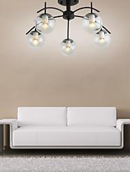 cheap -5-Light 60 cm Flush Mount Lights Metal Glass Industrial Painted Finishes Nordic Style 110-120V 220-240V E26 E27