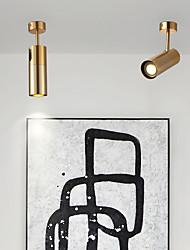 cheap -6cm LED Mini Ceiling Light Gold Corridor Light Cylinder Aisle Lamp Spot Light Porch Light Downlight Luxury Copper Generic Household Dressing Room Bar