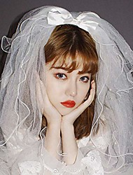 """cheap -bridal wedding veil,white ivory tulle sheer wedding bridal veils cathedral for bride -4t/35"""""""