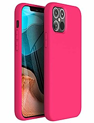 cheap -zuslab nano silicone compatible with iphone12 pro max case 2020 liquid silicone rubber shockproof soft full protection case - hot pink