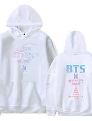 cheap -kpop bts hoodie sweater love yourself her hoodie unisex fashion sweatshirt (xxxl-190/100a) black