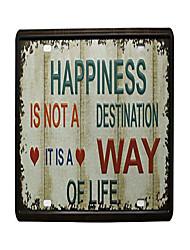 Недорогие -счастье - это не пункт назначения, это образ жизни старинный автомобильный номерной знак металлический оловянный знак настенная доска