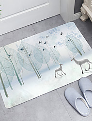 cheap -Simple Elk Bird Digital Printing Floor Mat Modern Bath Mats Nonwoven Memory Foam Novelty Bathroom