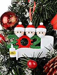 cheap -quarantine family christmas tree hanging ornaments 2020 christmas decorations home decor xmas gifts