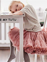 cheap -little girls' tulle tutu skirt pleated a-line petticoat 5-7 years (manufacturer size: m) pink