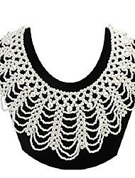 cheap -zyijuny dissent collar rbg fake collar elegant pearl beaded ajustable choker for women costume (white01)