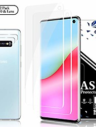 cheap -galaxy s10 screen protector + camera lens protectors,  [2 + 2 pack] full coverage screen protector film,hd clarity,anti scratch, touch screen accuracy film for samsung galaxy s10