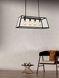cheap -4-Light 78 cm Chandelier Metal Glass Island / Industrial Painted Finishes Retro Vintage / Country 110-120V / 220-240V