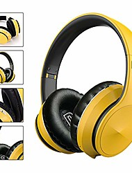 cheap -wireless over ear headphones, bluetooth 5.0 foldable stereo bass headphones, built-in microphone, support tf card, fm, for home office outdoor mobile pc tv