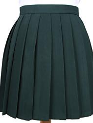 cheap -women's pleated skirt, khaki, 11