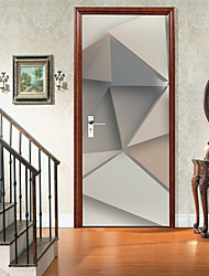 cheap -Self-adhesive Creative Door Stickers Three-dimensional Triangle Living Room DIY Decorative Home Waterproof Wall Stickers