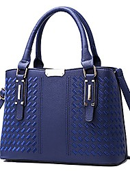 cheap -weitine brand top handle satchel handbags for women tote purse commuting bag with shoulder straps for office/working (blue)