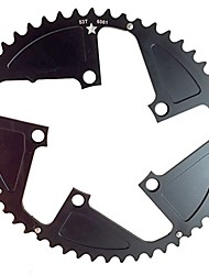 cheap -usamade oval sharktooth 110bcd 5-bolt cnc machined alloy black road chainring increased power output new (52 tooth oval)