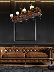 cheap -8-Light 70 cm Mini Style Pendant Light Wood / Bamboo Glass Painted Finishes Retro Traditional / Classic Country 110-120V 220-240V