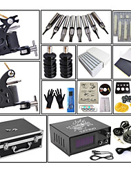 cheap -Professional Tattoo Kit Tattoo Machine - 2 pcs Tattoo Machines, High Speed / Dynamics Adjustable / Safety Carbon Steel 2 steel machine liner & shader / Coil Tattoo Machine