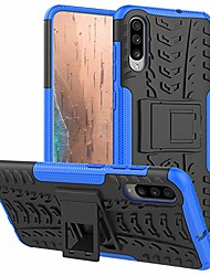 """cheap -samsung galaxy a70 case, heavy duty shockproof with kickstand hard pc back cover soft tpu dual layer protection phone stand case cover for samsung galaxy a70 2019 6.7"""" (red kickstand case)"""