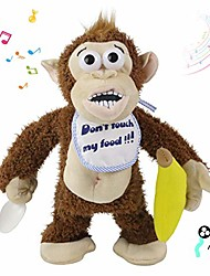 cheap -naughty crying monkey electric plush toy don't take his banana! musical interactive animated stuffed animal funny toy gift for kids babies toddlers, brown, 11''