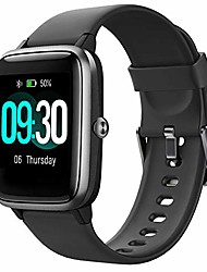 cheap -smart watch for android phones and ios phones compatible iphone samsung, ip68 swimming waterproof smartwatch fitness tracker fitness watch heart rate monitor smart watches for men women black