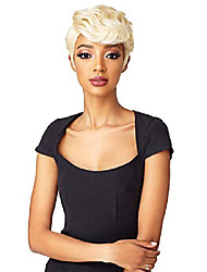 cheap -100% premium fiber instant weave synthetic half wig - dara (2 [darkest brown])