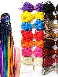 cheap -Zizi Braids Crochet Box Braids Crochet Hair Bundles Chorliss Synthetic Hair Extensions Purple Balck Red Pink Red Zizi Braid Hair