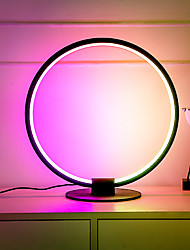 cheap -RGB Colorful Decorative LED Table Lamp Creative Bedroom Simple Living Room Round Iron Display Color Background Decorative Table Lamp Christmas Gift for Home