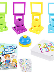 cheap -Board Game Educational Toy Paced Stacking and Building Game Plastics STEAM Toy family game Parent-Child Interaction Home Entertainment Kid's Adults Boys and Girls Toys Gifts
