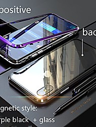 cheap -the second generation [magnetic adsorption technology] for iphone case, for samsung huawei xiaomi oppo meizu case, prismatic cutting edge [metal frame] (black black, samsung s8)