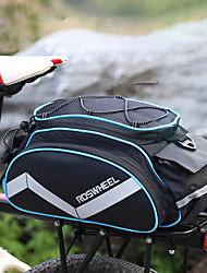 cheap -bicycle bags bike rack panniers bike pack accessories bike cargo bag cycling luggage bag shoulder bag handbag outdoor travel sports bag | 3 side reflective strip | bottle pocket | strong velcro black