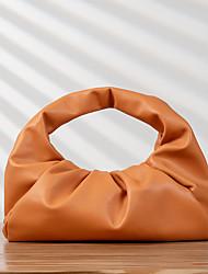 cheap -leather cloud pouch shoulder bag hobo croissant purse for women (brown)
