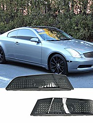 cheap -side marker compatible with 2003 2004 2005 2006 2007 infiniti g35 coupe 2 door smoked lens housing front bumper side marker lights
