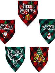 cheap -Dog Cat Bandanas & Hats Christmas Costume Quotes & Sayings Christmas Santa Claus Santa Claus Cosplay Classic Funny Christmas Party Winter Dog Clothes Puppy Clothes Dog Outfits Adjustable Red / Green