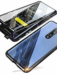 cheap -magnetic adsorption case for xiaomi mi 9t / 9t pro, 360 degree front and back clear tempered glass flip cover, metal bumper frame for xiaomi mi 9t / 9t pro (black)
