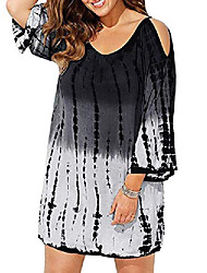 cheap -womens tie dye cover up plus size beach coverups swimsuits cold shoulder swimwear bathing suit black