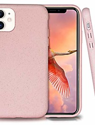 cheap -biodegradable iphone 11 phone case,eco-friendly,natural texture,speckled,6.1 inches (baby pink)