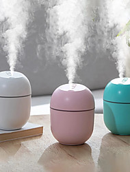 cheap -Mini Portable Ultrasonic Air Humidifier Essential Oil Aroma Diffuser USB Mist Generator Home Aromatherapy Humidifiers 220ML