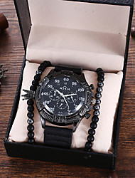 cheap -Men's Sport Watch Analog Quartz Modern Style Stylish Classic Chronograph Fake Three Eyes Six Needles Large Dial / PU Leather