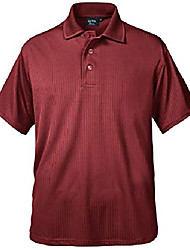 cheap -men's made in usa polo tee shirt 100% dry wicking polyester no curl collar burgundy