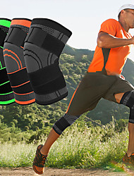 cheap -Knee Brace Knee Sleeve 3D Weaving for Fitness Gym Workout Basketball Antiskid Moisture Wicking Joint support Adjustable Men's Women's Silica Gel Nylon Lycra Spandex 1 pc Athletic Practice Black