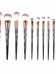 cheap -thenxin 10pcs makeup brushes set liquid foundation loose powder concealers blending eye shadows eyelash eyebrow face make up brush sets premium synthetic fiber cosmetic tools #332(gray)