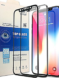 cheap -me screen protector for iphone x[2-pack], most advanced new tech with 3d full frame and high sensitivity, [anti scratch][9h hardness all hd screen tempered glass][easy bubble free install](black)