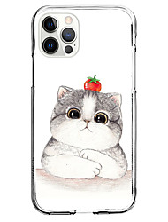 cheap -Cat Animal Case For Apple iPhone 12 iPhone 11 iPhone 12 Pro Max Unique Design Protective Case and Screen Protector Shockproof Back Cover TPU