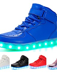 cheap -Girls' Sneakers LED LED Shoes USB Charging PU LED Luminous White Black Red Spring