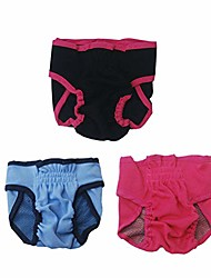 cheap -3pcs washable dog diapers puppy diapers pants dog wraps panty pet sanitary underwear - size s