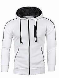 cheap -mens full-zip casual hooded shirts - fleece fashion hoodies zip-up sweatshirt slim fit top blouse - 5colors